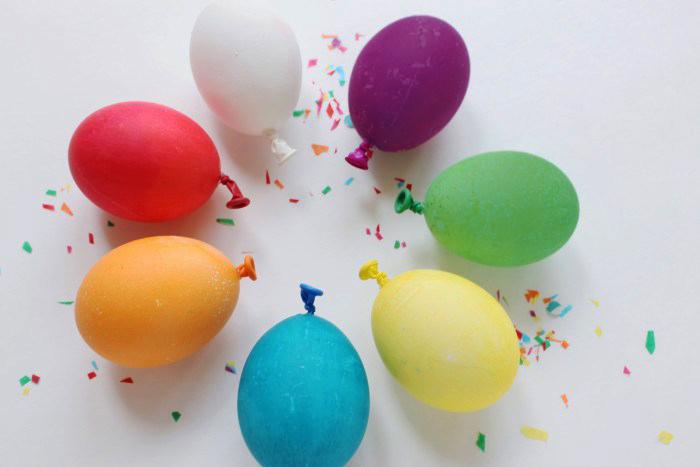 Яйца в виде воздушных шаров